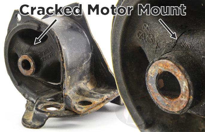 old cracked motor mount