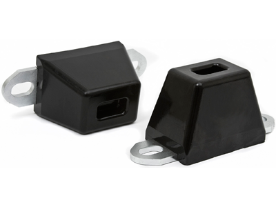 ku09036bk Wide Slotted Bump Stop with Mounting Plate (2-1/4 Inch tall x 3 Inch long x 2 Inch)