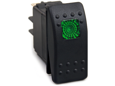 ku80012 Rocker Switch - Green Light