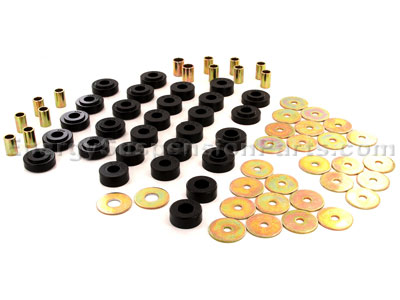 Body Mount Bushings and Radiator Support Bushings - Except Convertible