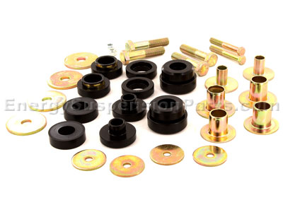 Body Mount Bushings and Radiator Support Bushings - With 1 inch Hole in Core Support