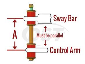 Univeral Sway Bar End Links - Energy Suspension endlink sizing chart